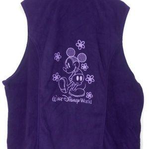 Disney Parks Vintage Mickey Mouse Purple Vest 3X